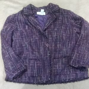 Sag Harbor purple tweed jacket
